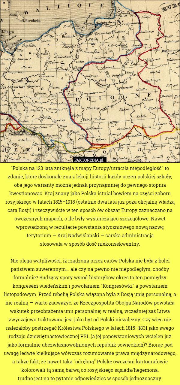Polska Na 123 Lata Zniknela Z Mapy Europy Utracila Niepodleglosc